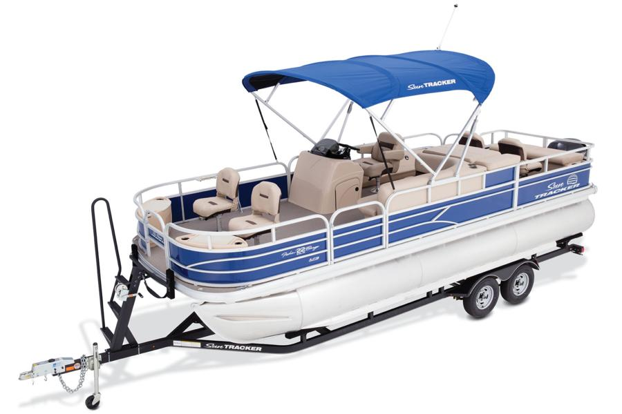 Sun tracker fishin barge 22 xp3 adt marine group for Suntracker beach chair